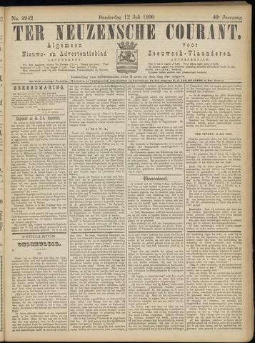 Ter Neuzensche Courant. Algemeen Nieuws- en Advertentieblad voor Zeeuwsch-Vlaanderen / Neuzensche Courant ... (idem) / (Algemeen) nieuws en advertentieblad voor Zeeuwsch-Vlaanderen 1900-07-12