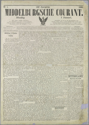 Middelburgsche Courant 1889