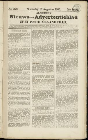 Ter Neuzensche Courant. Algemeen Nieuws- en Advertentieblad voor Zeeuwsch-Vlaanderen / Neuzensche Courant ... (idem) / (Algemeen) nieuws en advertentieblad voor Zeeuwsch-Vlaanderen 1865-08-16