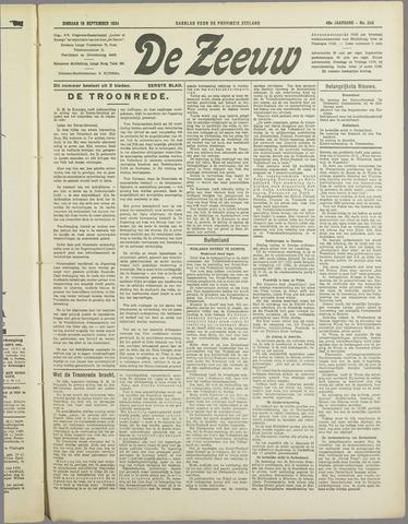 De Zeeuw. Christelijk-historisch nieuwsblad voor Zeeland 1934-09-18