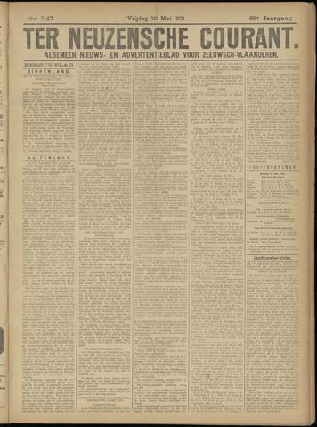 Ter Neuzensche Courant. Algemeen Nieuws- en Advertentieblad voor Zeeuwsch-Vlaanderen / Neuzensche Courant ... (idem) / (Algemeen) nieuws en advertentieblad voor Zeeuwsch-Vlaanderen 1921-05-20
