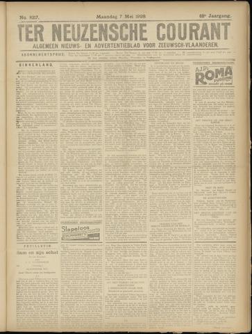 Ter Neuzensche Courant. Algemeen Nieuws- en Advertentieblad voor Zeeuwsch-Vlaanderen / Neuzensche Courant ... (idem) / (Algemeen) nieuws en advertentieblad voor Zeeuwsch-Vlaanderen 1928-05-07