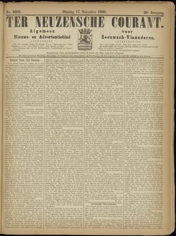 Ter Neuzensche Courant. Algemeen Nieuws- en Advertentieblad voor Zeeuwsch-Vlaanderen / Neuzensche Courant ... (idem) / (Algemeen) nieuws en advertentieblad voor Zeeuwsch-Vlaanderen 1896-11-17