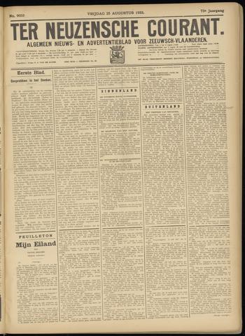 Ter Neuzensche Courant. Algemeen Nieuws- en Advertentieblad voor Zeeuwsch-Vlaanderen / Neuzensche Courant ... (idem) / (Algemeen) nieuws en advertentieblad voor Zeeuwsch-Vlaanderen 1933-08-25