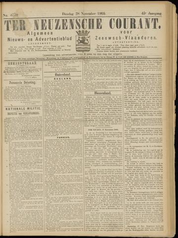 Ter Neuzensche Courant. Algemeen Nieuws- en Advertentieblad voor Zeeuwsch-Vlaanderen / Neuzensche Courant ... (idem) / (Algemeen) nieuws en advertentieblad voor Zeeuwsch-Vlaanderen 1905-11-28