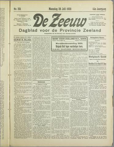 De Zeeuw. Christelijk-historisch nieuwsblad voor Zeeland 1930-07-28