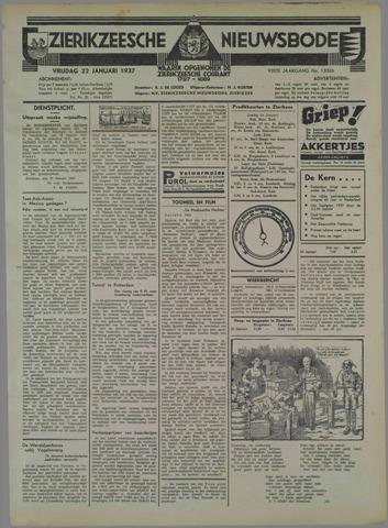 Zierikzeesche Nieuwsbode 1937-01-22