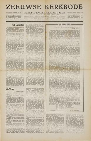 Zeeuwsche kerkbode, weekblad gewijd aan de belangen der gereformeerde kerken/ Zeeuwsch kerkblad 1957-11-22