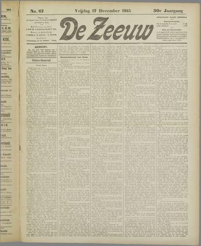 De Zeeuw. Christelijk-historisch nieuwsblad voor Zeeland 1915-12-17