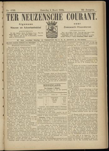 Ter Neuzensche Courant. Algemeen Nieuws- en Advertentieblad voor Zeeuwsch-Vlaanderen / Neuzensche Courant ... (idem) / (Algemeen) nieuws en advertentieblad voor Zeeuwsch-Vlaanderen 1882-03-04