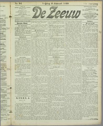 De Zeeuw. Christelijk-historisch nieuwsblad voor Zeeland 1920-01-09