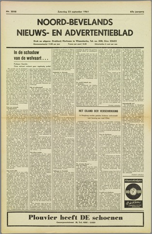 Noord-Bevelands Nieuws- en advertentieblad 1961-09-23