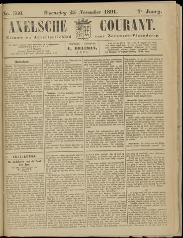 Axelsche Courant 1891-11-25