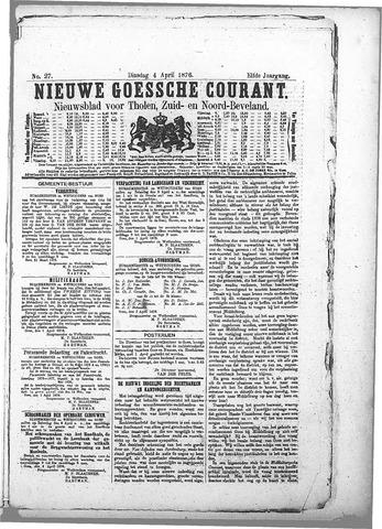 Nieuwe Goessche Courant 1876-04-04