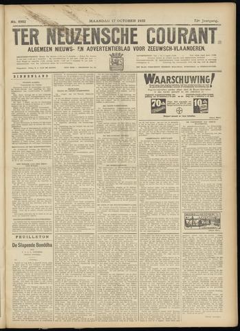 Ter Neuzensche Courant. Algemeen Nieuws- en Advertentieblad voor Zeeuwsch-Vlaanderen / Neuzensche Courant ... (idem) / (Algemeen) nieuws en advertentieblad voor Zeeuwsch-Vlaanderen 1932-10-17