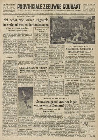 Provinciale Zeeuwse Courant 1953-11-03