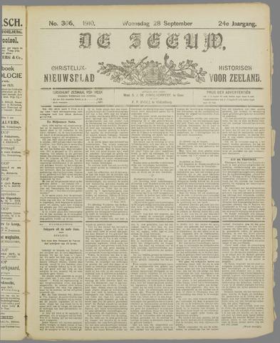De Zeeuw. Christelijk-historisch nieuwsblad voor Zeeland 1910-09-28