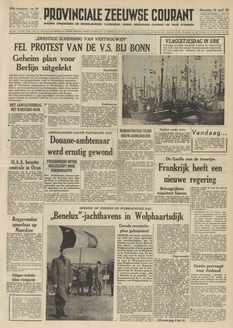 Provinciale Zeeuwse Courant 1962-04-16
