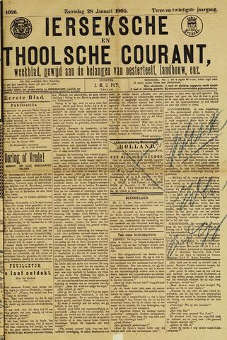 Ierseksche en Thoolsche Courant 1905-01-28