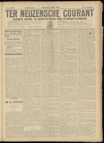 Ter Neuzensche Courant. Algemeen Nieuws- en Advertentieblad voor Zeeuwsch-Vlaanderen / Neuzensche Courant ... (idem) / (Algemeen) nieuws en advertentieblad voor Zeeuwsch-Vlaanderen 1934-05-18