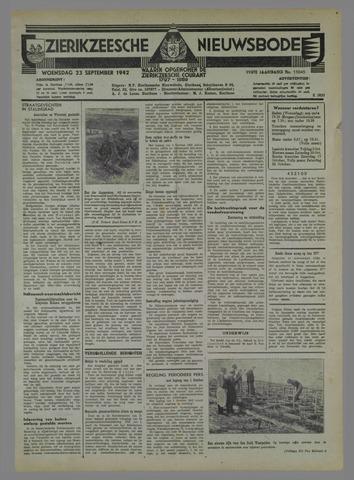 Zierikzeesche Nieuwsbode 1942-09-23