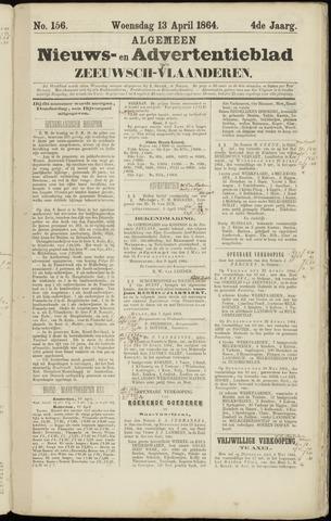Ter Neuzensche Courant. Algemeen Nieuws- en Advertentieblad voor Zeeuwsch-Vlaanderen / Neuzensche Courant ... (idem) / (Algemeen) nieuws en advertentieblad voor Zeeuwsch-Vlaanderen 1864-04-13