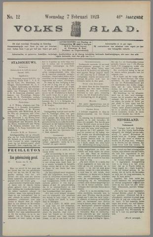 Volksblad 1923-02-07