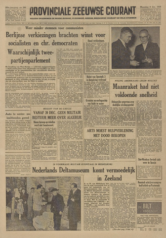 Provinciale Zeeuwse Courant 1958-12-08