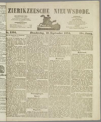 Zierikzeesche Nieuwsbode 1854-09-28