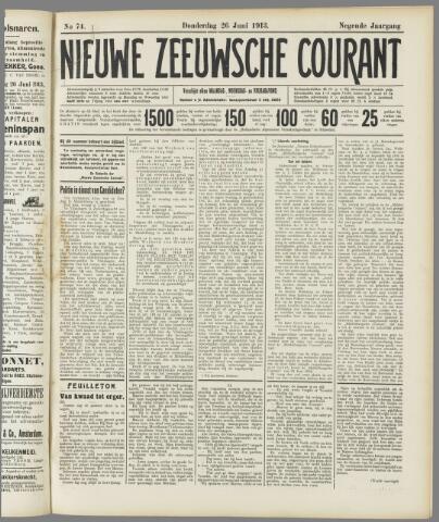Nieuwe Zeeuwsche Courant 1913-06-26