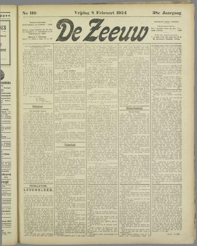 De Zeeuw. Christelijk-historisch nieuwsblad voor Zeeland 1924-02-08