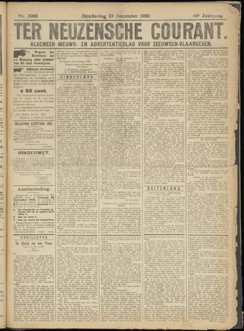 Ter Neuzensche Courant. Algemeen Nieuws- en Advertentieblad voor Zeeuwsch-Vlaanderen / Neuzensche Courant ... (idem) / (Algemeen) nieuws en advertentieblad voor Zeeuwsch-Vlaanderen 1920-12-23