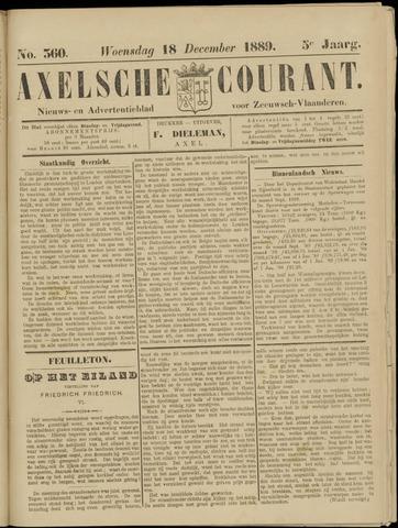 Axelsche Courant 1889-12-18