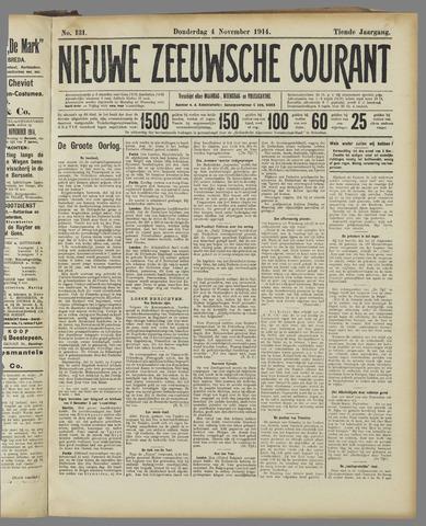Nieuwe Zeeuwsche Courant 1914-11-04