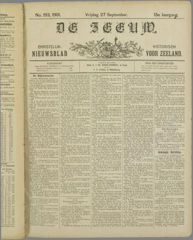 De Zeeuw. Christelijk-historisch nieuwsblad voor Zeeland 1901-09-27