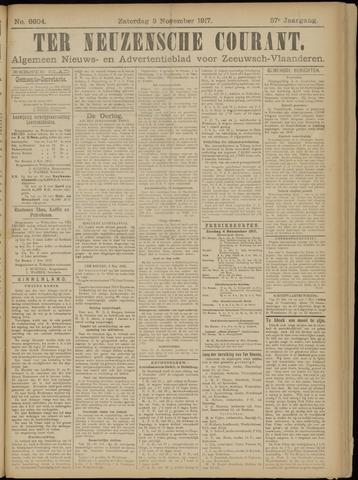 Ter Neuzensche Courant. Algemeen Nieuws- en Advertentieblad voor Zeeuwsch-Vlaanderen / Neuzensche Courant ... (idem) / (Algemeen) nieuws en advertentieblad voor Zeeuwsch-Vlaanderen 1917-11-03