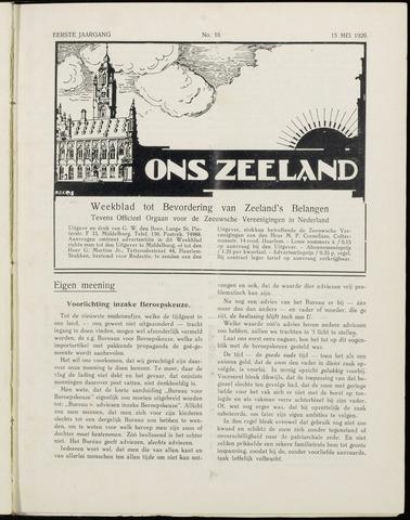 Ons Zeeland / Zeeuwsche editie 1926-05-15