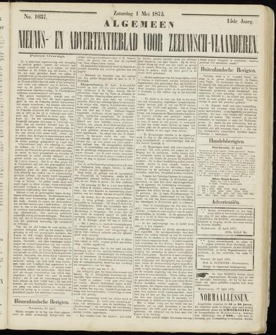 Ter Neuzensche Courant. Algemeen Nieuws- en Advertentieblad voor Zeeuwsch-Vlaanderen / Neuzensche Courant ... (idem) / (Algemeen) nieuws en advertentieblad voor Zeeuwsch-Vlaanderen 1875-05-01