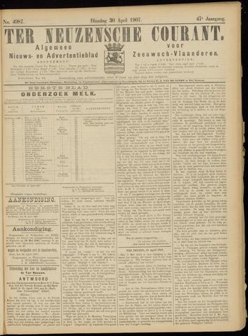 Ter Neuzensche Courant. Algemeen Nieuws- en Advertentieblad voor Zeeuwsch-Vlaanderen / Neuzensche Courant ... (idem) / (Algemeen) nieuws en advertentieblad voor Zeeuwsch-Vlaanderen 1907-04-30