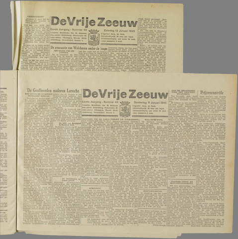 de Vrije Zeeuw 1945-01-11