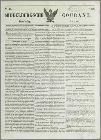 Middelburgsche Courant 1859-04-14
