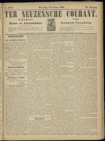 Ter Neuzensche Courant. Algemeen Nieuws- en Advertentieblad voor Zeeuwsch-Vlaanderen / Neuzensche Courant ... (idem) / (Algemeen) nieuws en advertentieblad voor Zeeuwsch-Vlaanderen 1894-10-10