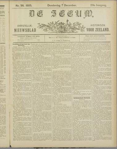 De Zeeuw. Christelijk-historisch nieuwsblad voor Zeeland 1905-12-07