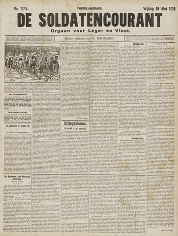 De Soldatencourant. Orgaan voor Leger en Vloot 1916-05-19