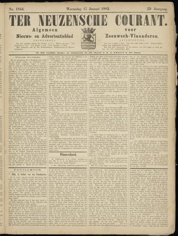 Ter Neuzensche Courant. Algemeen Nieuws- en Advertentieblad voor Zeeuwsch-Vlaanderen / Neuzensche Courant ... (idem) / (Algemeen) nieuws en advertentieblad voor Zeeuwsch-Vlaanderen 1883-01-17