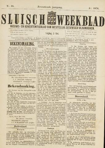 Sluisch Weekblad. Nieuws- en advertentieblad voor Westelijk Zeeuwsch-Vlaanderen 1876-05-05