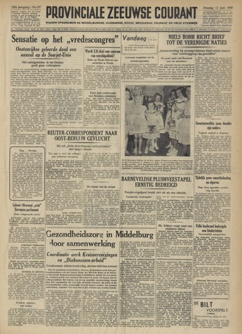 Provinciale Zeeuwse Courant 1950-06-13