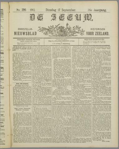 De Zeeuw. Christelijk-historisch nieuwsblad voor Zeeland 1912-09-17