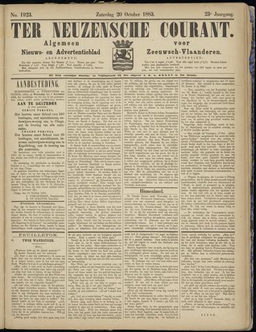 Ter Neuzensche Courant. Algemeen Nieuws- en Advertentieblad voor Zeeuwsch-Vlaanderen / Neuzensche Courant ... (idem) / (Algemeen) nieuws en advertentieblad voor Zeeuwsch-Vlaanderen 1883-10-20