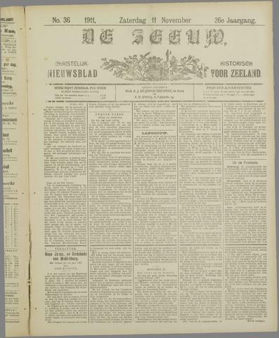 De Zeeuw. Christelijk-historisch nieuwsblad voor Zeeland 1911-11-11